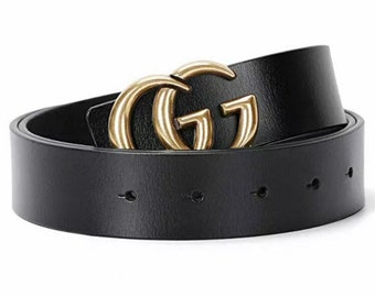 988ba990b0b Unisex GG Inspired Belt Letters Men Women Style