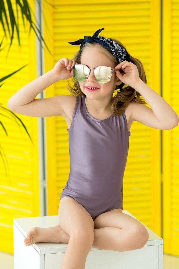 Scandinavian Print Kids Swimsuit Girls Beachwear Swimsuits toddler Blue Yellow Geometric Design Swimsuit