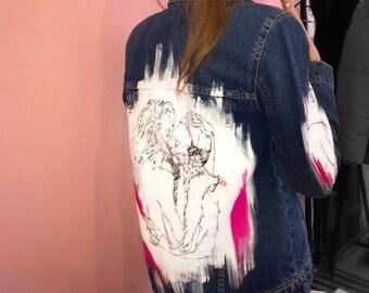 6526aefd6 Black jean jacket
