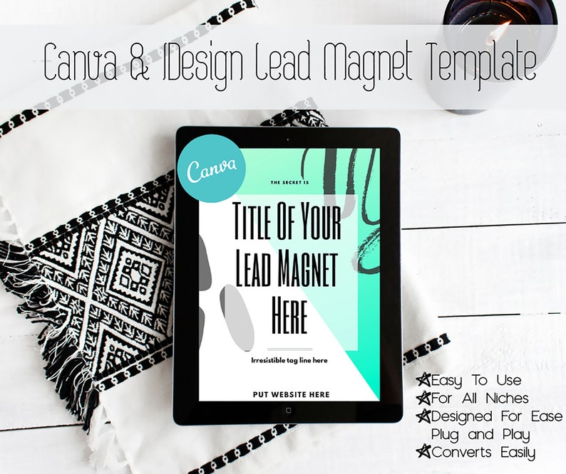 Lead Magnet Template for Canva and Adobe Design Products - Easily Converts,  Gathers Emails Quickly