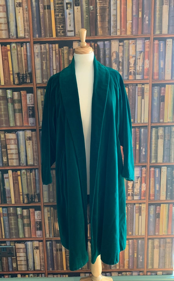 Vintage 1950s Canadian designer green jade teal ve