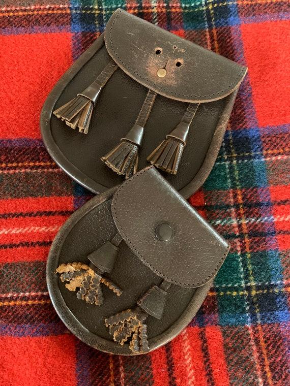 A rare model belt bag Sporran Scotland Vintage fur The Mad Hatter Sporran leather 1930