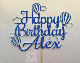 167010cb79b3 Hot air balloon cake topper | Etsy