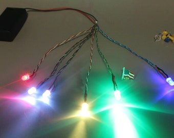 Custom LED Sets for Creations/Art - Colors, Length, & Count! Very Bright! 5MM