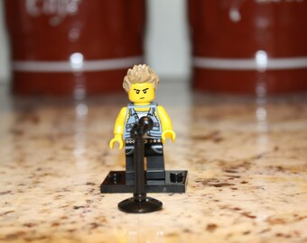 Billy Idol 80/'s Pop Punk Rebel Yell Mony Mony Custom Lego Minifigure Unique Gift