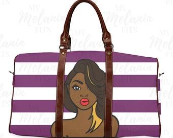 Melanin Poppin Travel Bag - Black Girl Magic Duffel Bag - The Flavas  Collection 584e9eee36d65