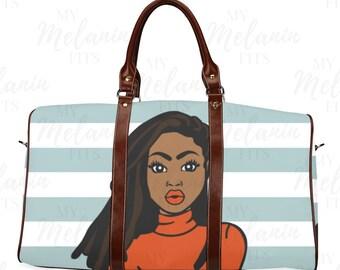 Natty Queen Travel Bag - Loc d Duffel Bag - Black Girl Magic Duffel Bag -  The Flavas Collection 087cbe49e3d18