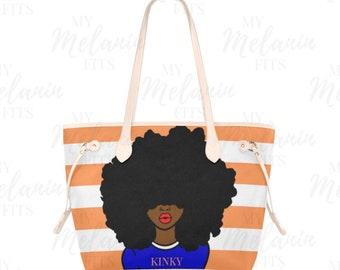 Kinky Hair Tote Bag - Natural Hair Queen - Spring Break Essentials -  Megafro tote bag e61d97b72019d