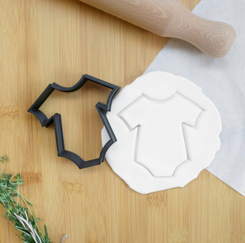 baking Supplies cookie stencils | cookie stamp 3D Printed fondant cutter gift Baby Onesie Cookie Cutter baby shower