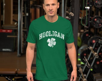 29c70bda12 Hooligan Funny Vintage St Patricks Day Tee Shirt Men Unisex Guys