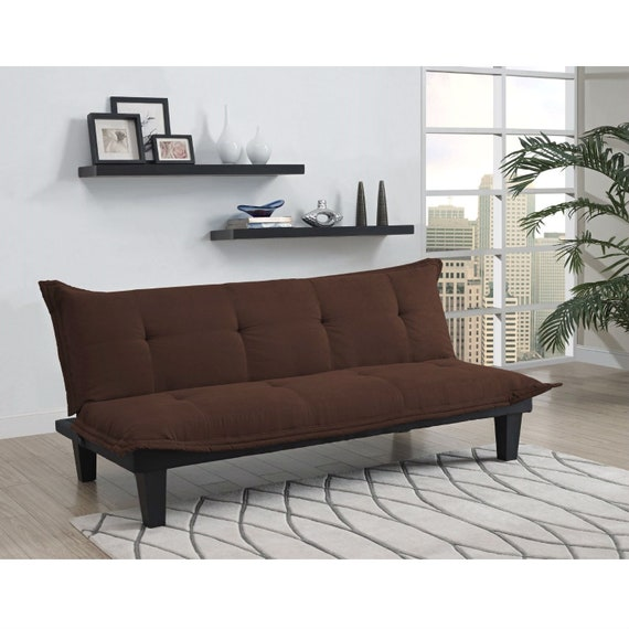 Brilliant Modern Contemporary Convertible Sofa Bed Futon Lounger In Brown Microfiber Creativecarmelina Interior Chair Design Creativecarmelinacom