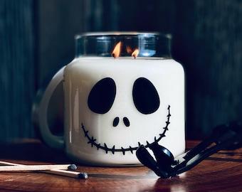 Halloween decor, Jack skellington, Pumpkin candle, Halloween candle, Fall Decor, Fall Candle, Handmade scented candles, Jack-o-lantern