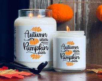 BEST SELLER Pumpkin Pie, Pumpkin Scented Candle, Pumpkin Soy Candle, Fall Candle, Autumn Candle, Fall Decor, Halloween