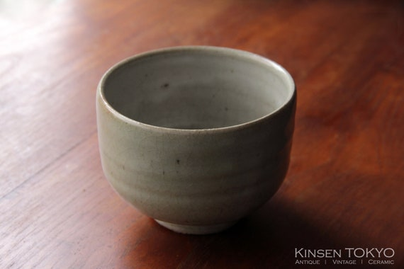 1001 Mishima Chawan Vintage Ceramic Chawan Cup  Matcha Chawan Handmade Green Tea bowl  glaze wheel thrown #C