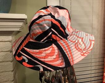 e3a6ed2b Emilio Pucci Brimmed Cotton Women's Hat - 1990s