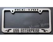 Star Trek NCC-1701 USS Enterprise Chrome License Plate Frame