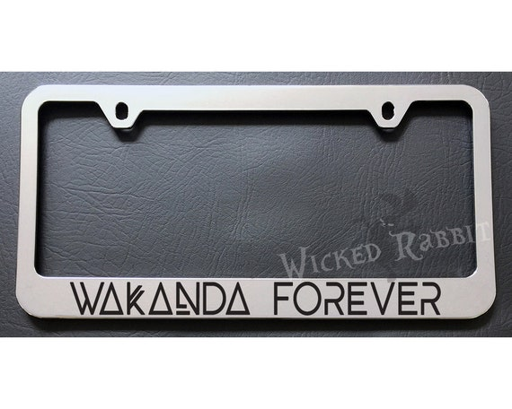 The Punisher LOGO Black Plastic License Plate Frame