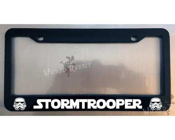 Stormtrooper Star Wars Glossy Black License Plate Frame Caps