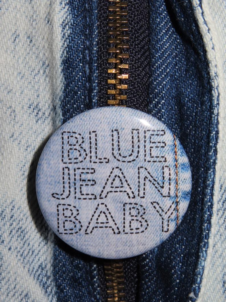 Elton John 1.5 Pinback Button or Magnet Blue Jean Baby