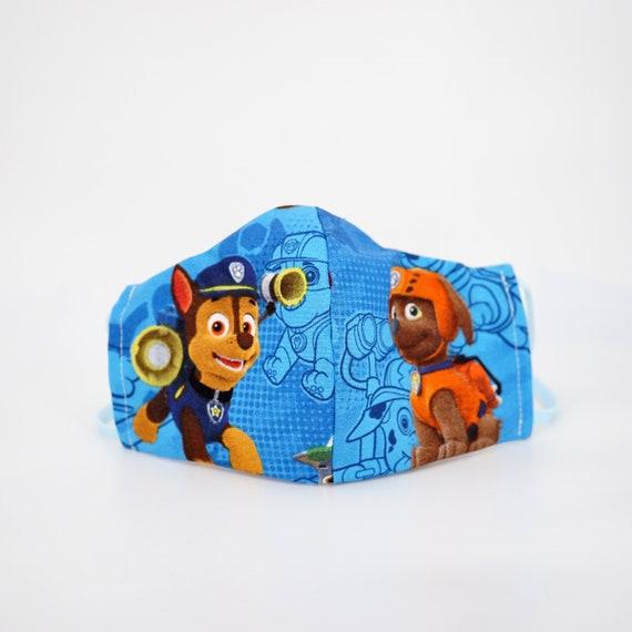 Paw Patrol Face Masks | Boys Kid Mask | 3 ply plus Filter Pocket | Zuma Chase | Adjustable Ear straps | Children Face Masks | Cartoon