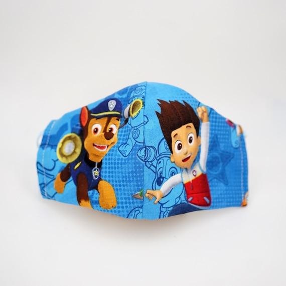 Paw Patrol Face Masks | Boys Kid Mask | 3 ply plus Filter Pocket | Ryder Chase | Adjustable Ear straps | Children Face Masks | Cartoon