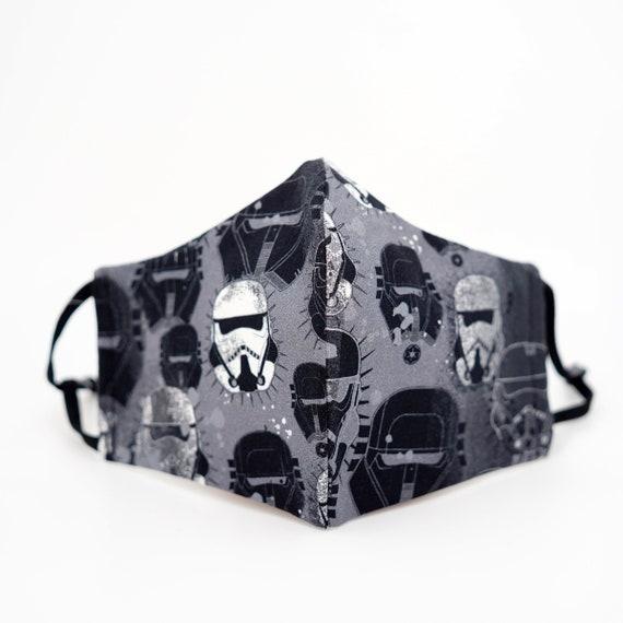 LIMITED Star Wars Stormtrooper Mask | 3 ply plus Filter Pocket |Adjustable Ear straps | Children Kid Adult Dust Face Masks | Men Boy Movie