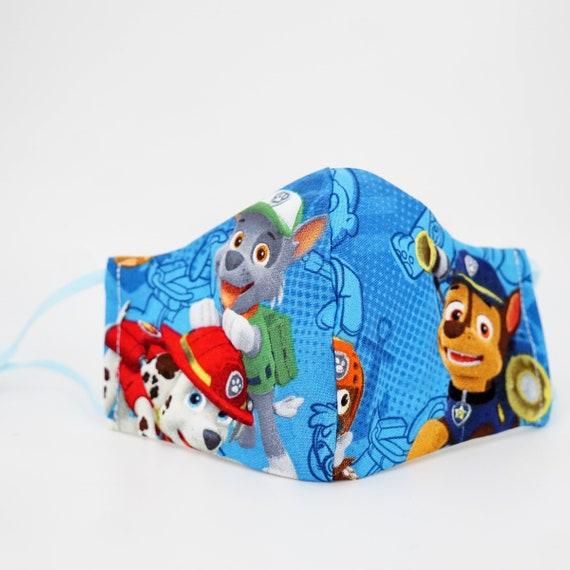 Paw Patrol Face Masks | Boys Kid Mask | 3 ply plus Filter Pocket | Rocky Chase | Adjustable Ear straps | Children Face Masks | Cartoon