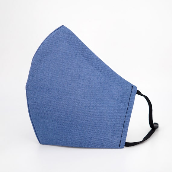 Blue Denim Style Mask | 3 ply plus Filter Pocket | Cotton Reusable | Adjustable Ear loops | Men Women Children Dust Face Masks