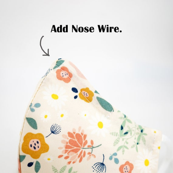 Nose Wire | Add On Listing for Masks | Adult Kid Mask | 3 ply plus Filter Pocket | Adjustable Ear straps | Face Masks | Cartoon