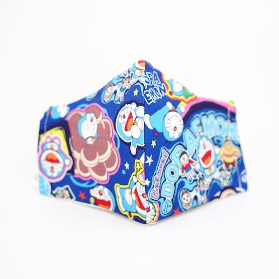 Doraemon Kid & Adult Mask | 3 ply plus Filter Pocket | Boys Girls Reusable Washable Face Masks | Adjustable Ear loops | Cartoon Japanese