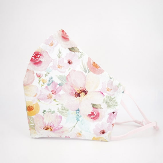 Floral Mask | 3 ply plus Filter Pocket | Cotton Reusable | Adjustable Ear loops | Women Children Dust Face Masks | Flower pattern Masks