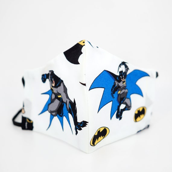 Batman Kid & Adult Mask | 3 ply plus Filter Pocket | Bat Signal| Adjustable Ear loops | Comics