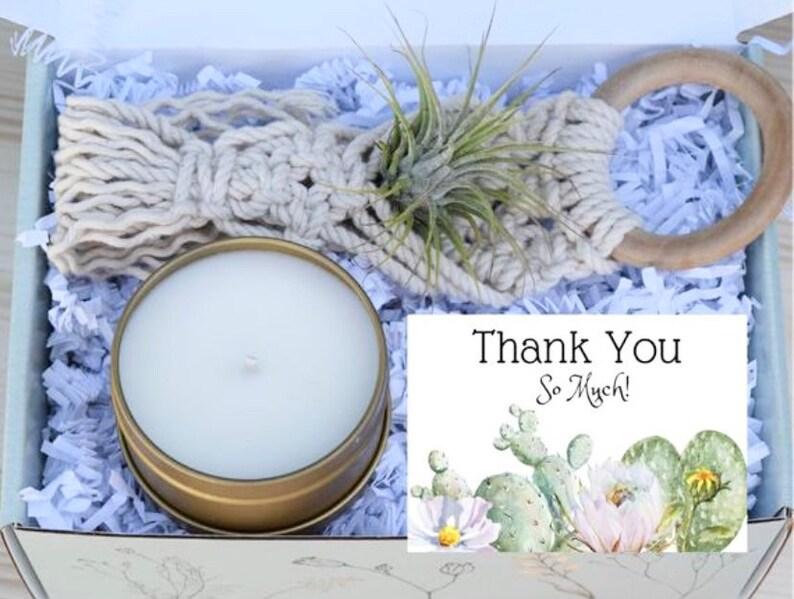 Macrame Air Plant Gift Box Macrame Air Plant Hanger Gifts that Grow Thank You Gift Appreciation Gift Box