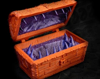 Mimic Dice Chest Fates End 2 Terra and Cosmos 3D Print Dice Jail Dungeons and Dragons Dice Chest, Mimic