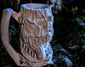 Mimic Mythic Mugs by Ars Moriendi, can holder, d20, Dungeons and Dragons, roll playing