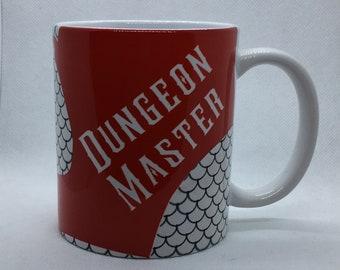 Dungeon Master Dragon Mug, Dungeons and Dragons Custom Coffee Mug, DND Mug, Gamer Dungeon Master Mug, Gamer Gifts