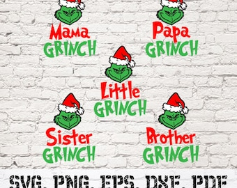 The Family Grinch SVG Eps Png Pdf Digital Download