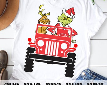 Download Free Grinch in Jeep SVG, PNG, PDF PSD Template