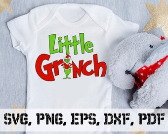 The Grinch, Little Grinch Family Christmas SVG Eps Png Pdf Digital Download