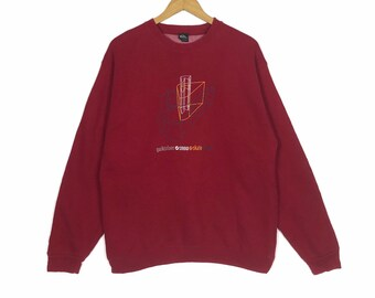 1032cdac11a Quiksilver Sweatshirt Small Logo Spell Out Red Colour Medium Size Jumper  Pullover Sweater Crewneck Vintage 90s Retro Classic