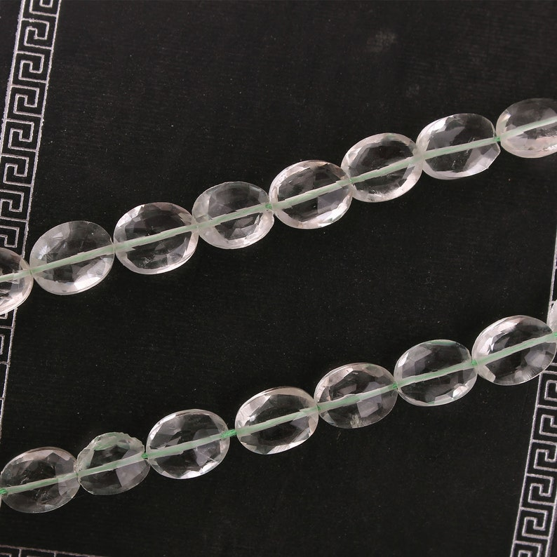 Prasiolite 9x6.5 mm Bead for Jewelry making 13 strand Green Amethyst Oval Faceted Beads Best Price Gemstone Beads AAA Best quality