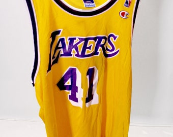 80b8db19ee9a2 Vintage Lakers Champion Jersey Glen Rice  41