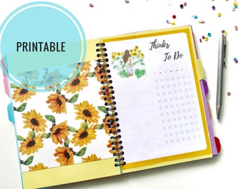 monthly to do list etsy