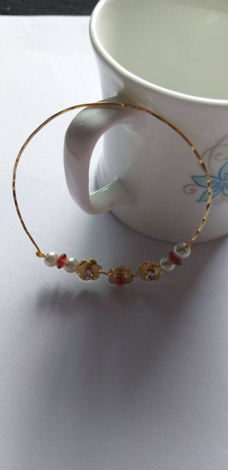 Bridal Nose Ring Big Hoop Decorated Indian Nath Wedding Jewellery