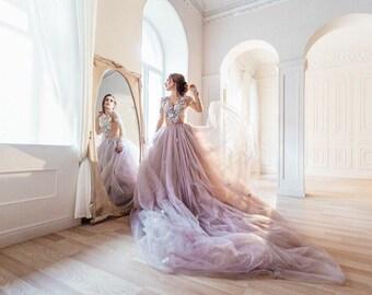 eac3392171f Alternative Wedding Dress Grey Fairy Wedding Dress Color Wedding Gown Gray  Ballgown Wedding Dress Bohemian Wedding Dress