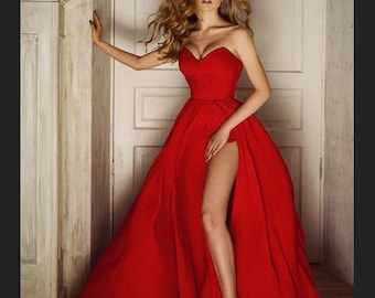 e026b061673 Red Corset Dress - Fabulous Sexy Dress - Luxury Evening Dress - Red Corset Drape  Dress - Red Wedding Gown