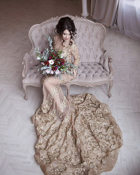 Alternative Wedding Dress Non Traditional Trumpet Wedding Etsy