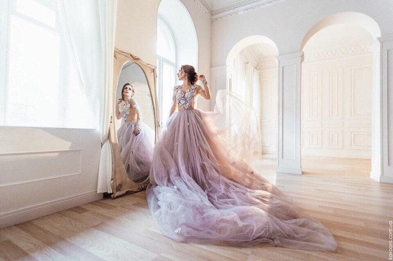 Alternative Wedding Dresses.Alternative Wedding Dress Grey Fairy Wedding Dress Color Wedding Gown Gray Ballgown Wedding Dress Bohemian Wedding Dress