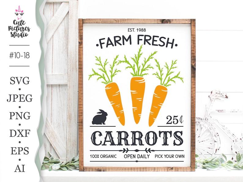 Farm Fresh Cricut SVG cut file Farmhouse Sign SVG Carrots image 0
