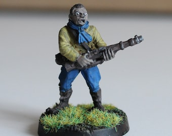 Figure of a civilian metal resistance fighter from the Second World War